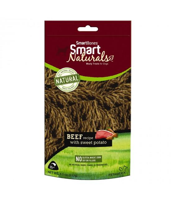 Smart Bones Smart Naturals Beef & Sweet Potato Treats For Dogs 113g