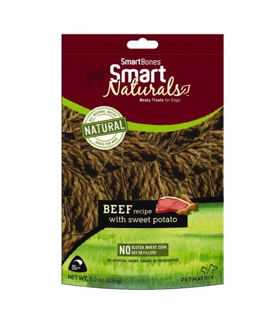 Smart Bones Smart Naturals Beef & Sweet Potato Treats For Dogs 226g