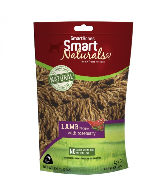 Smart Bones Smart Naturals Lamb & Rosemary Treats For Dogs 226g