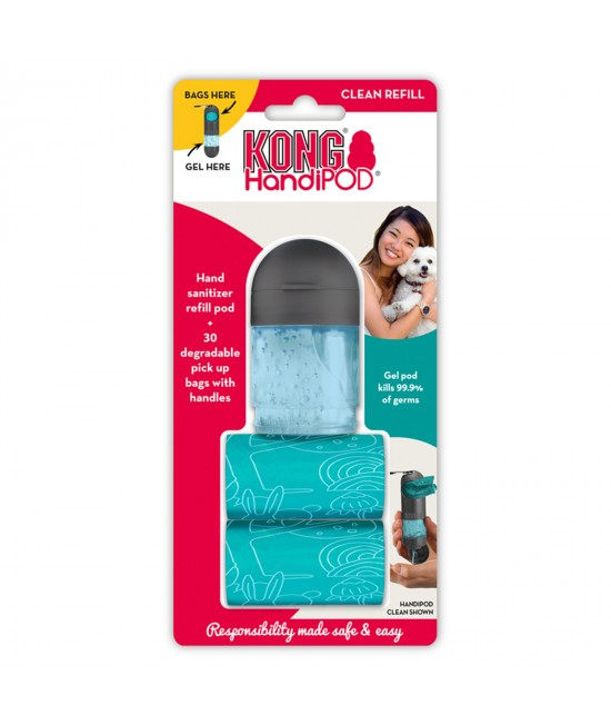 KONG HandiPOD Clean Refill Hand Sanitiser And 30 Degradable Poo Bags