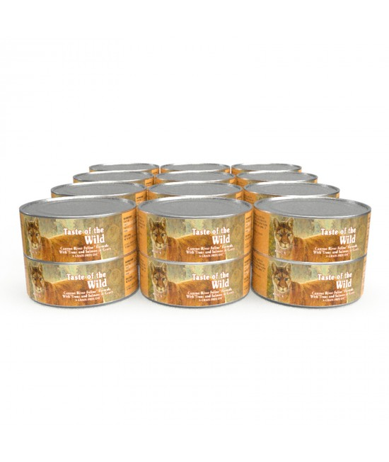 Taste of The Wild Grain Free Canyon River Trout And Salmon In Gravy Canned Wet Cat Food 24 x 156gm