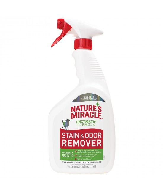 Natures Miracle Stain And Odour Remover Unscented For Dogs 946ml