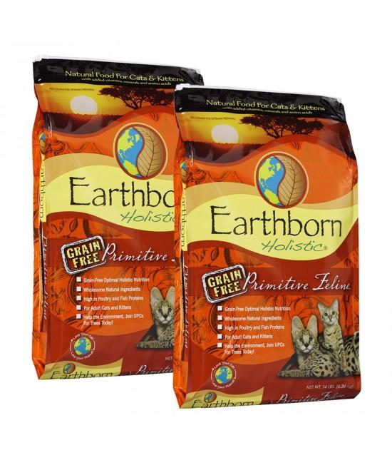 Earthborn Grain Free Primitive Turkey Chicken Kitten And Adult Dry Cat Food 12.72kg