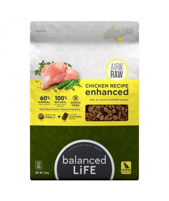 Balanced Life Enhanced Grain Free With Air Dried Chicken Adult Dry Dog Food 2.5kg