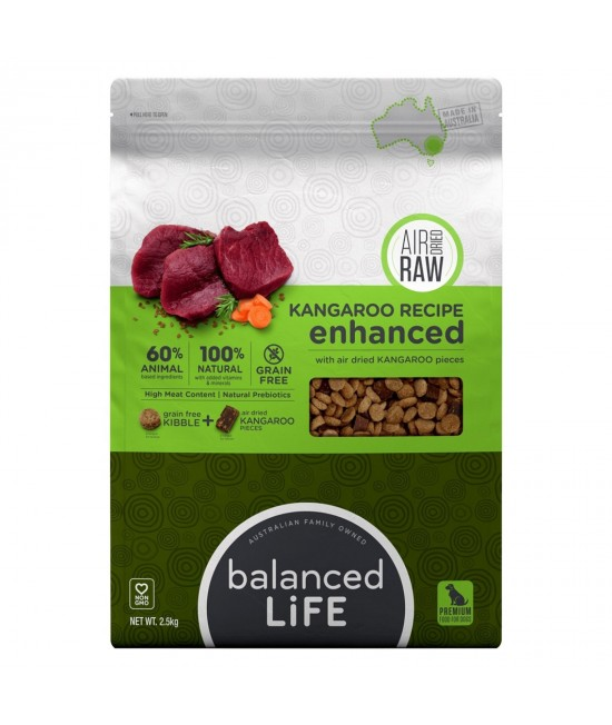 Balanced Life Enhanced Grain Free With Air Dried Kangaroo Adult Dry Dog Food 2.5kg