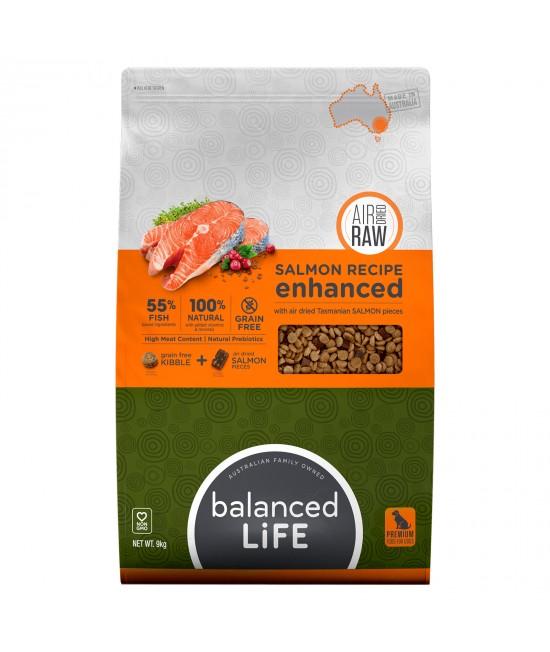 Balanced Life Enhanced Grain Free With Air Dried Tasmanian Salmon Adult Dry Dog Food 9kg