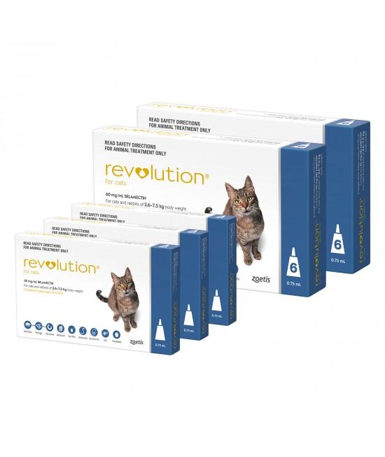 Revolution For Cats 2.6-7.5kg Blue 15 Pack