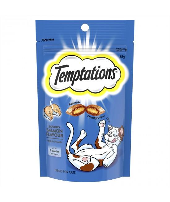 Temptations Savoury Salmon Treats For Cats 85gm