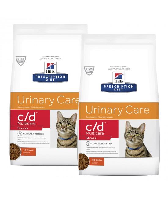 Hills Prescription Diet Feline c/d Urinary Care Multicare Stress Dry Cat Food 15.96kg (603936)