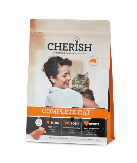 Cherish Complete Cat Adult Salmon And Chicken Dry Cat Food 3kg