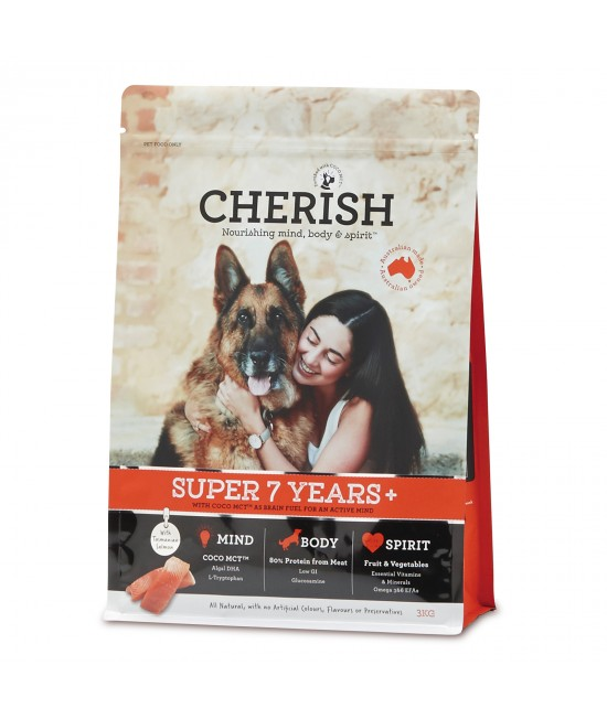 Cherish Super 7+ Years Salmon And Chicken Dry Dog Food 3kg