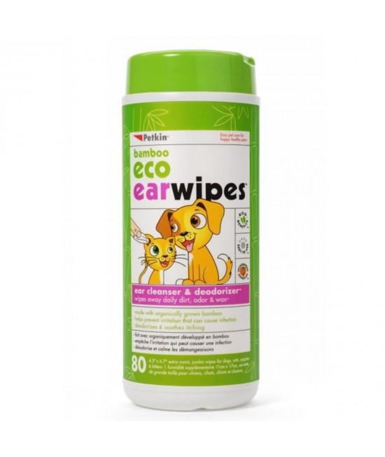 Petkin Bamboo Eco Earwipes 80pk