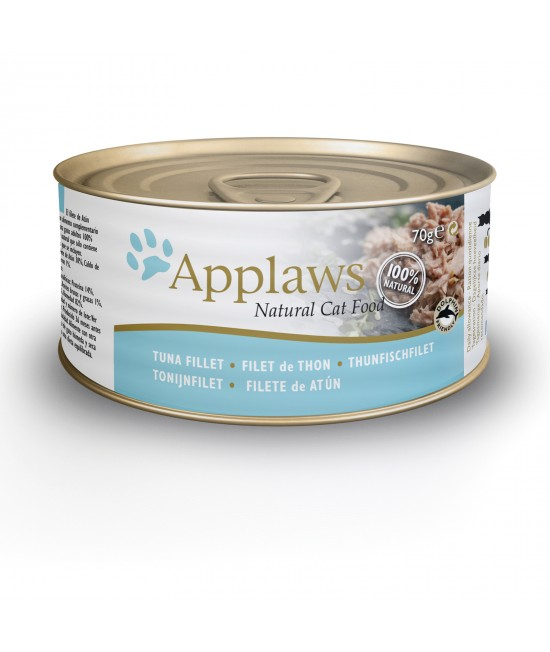Applaws Tuna Fillet Adult Canned Wet Cat Food 70g x 24