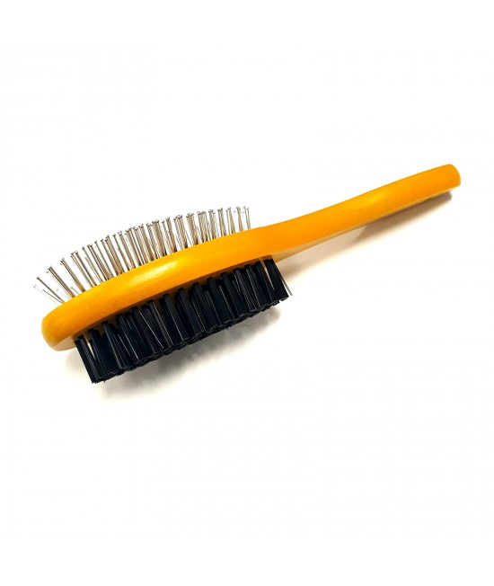 Petkin Grooming 2 In 1 Double-Sided Bamboo Brush For Cats And Dogs