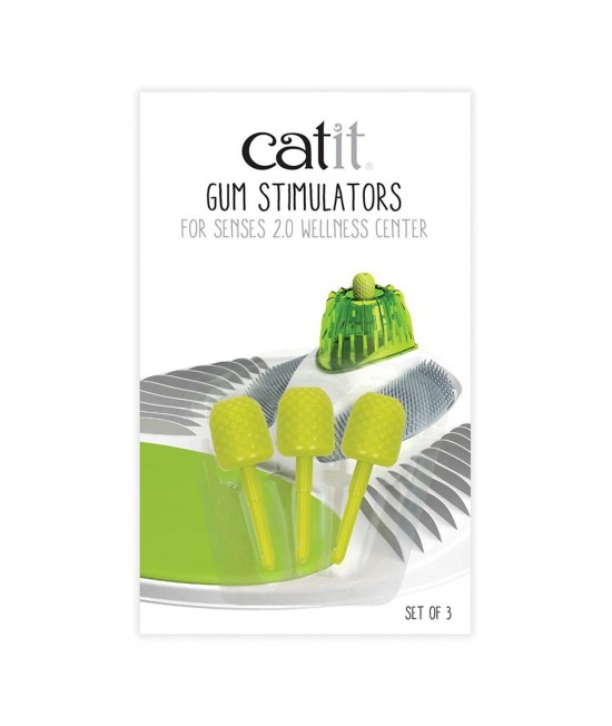 Catit 2.0 Wellness Gum Stimulators 3 Pack For Use With Senses 2.0 Wellness Centre Toy For Cats