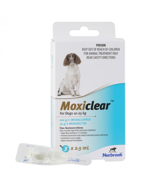 Moxiclear For Dogs 10-25kg 3 Pack