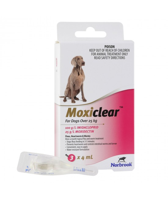 Moxiclear For Dogs Over 25kg 3 Pack