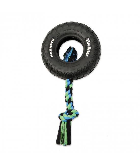 Mammoth TireBiter Paw Tread Rubber With Rope Large Tyre Toy For Dogs
