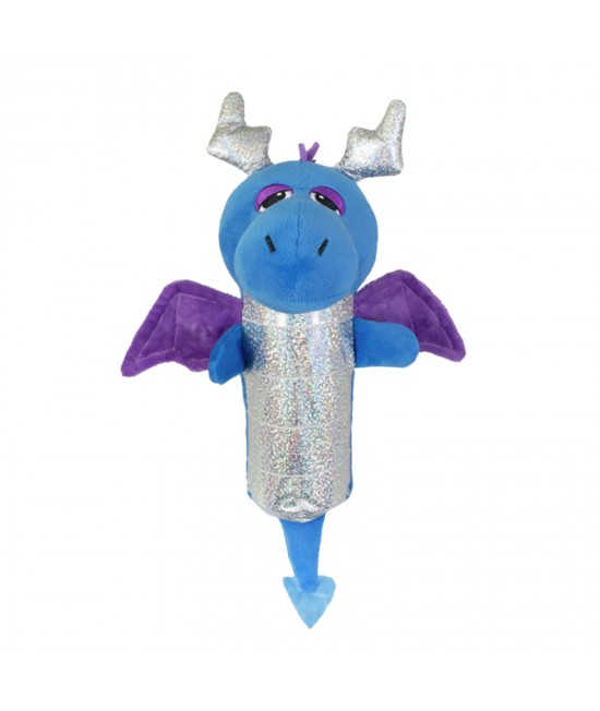 Yours Droolly Crackle Dragon Dark Blue Plush Toy For Dogs