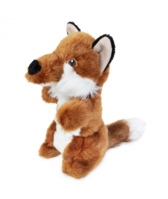 Yours Droolly Stretchy Fox Soft Plush Squeaker Toy For Dogs