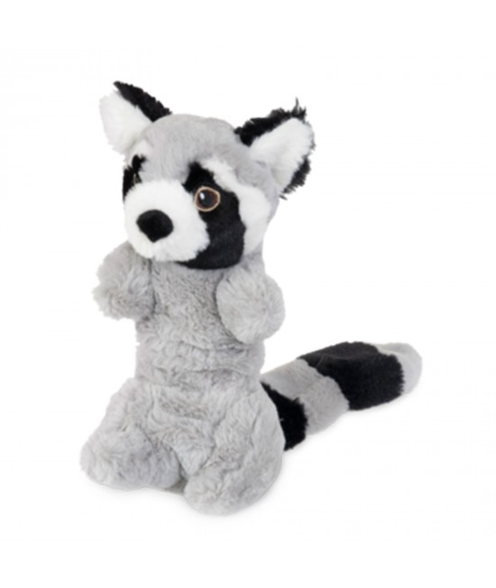 Yours Droolly Stretchy Racoon Soft Plush Squeaker Toy For Dogs