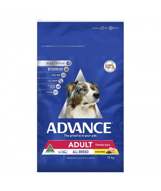 Advance All Breed Chicken Adult Dry Dog Food 15kg