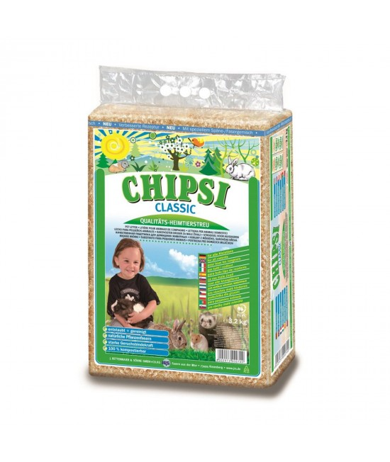 Chipsi Classic Softwood Bedding Litter For Small Animals 3.2kg