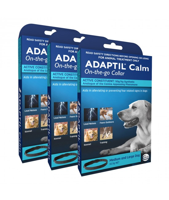 Adaptil Calm On-the-Go Collar For Medium And Large Dogs 70cm Fits Necks Up To 62.5cm x 3