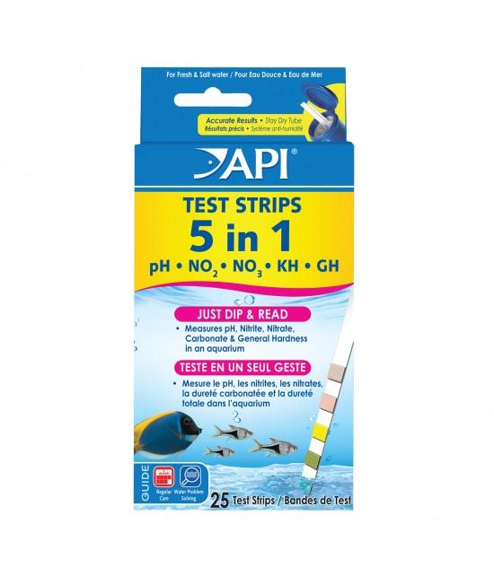 API 5 In 1 Aquarium Test Strips For Fish Aquarium