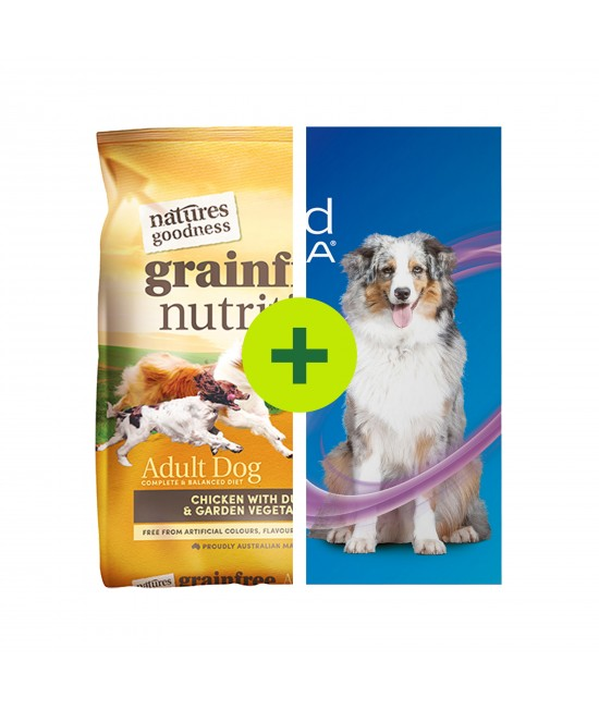 Natures Goodness Food Plus NexGard Spectra Chew For Dogs