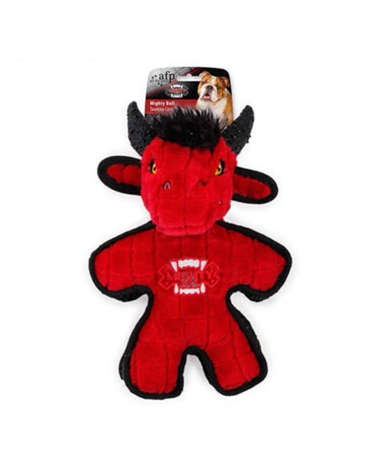 AFP Mighty Rex Bull Soft Plush Squeaker Toy For Dogs