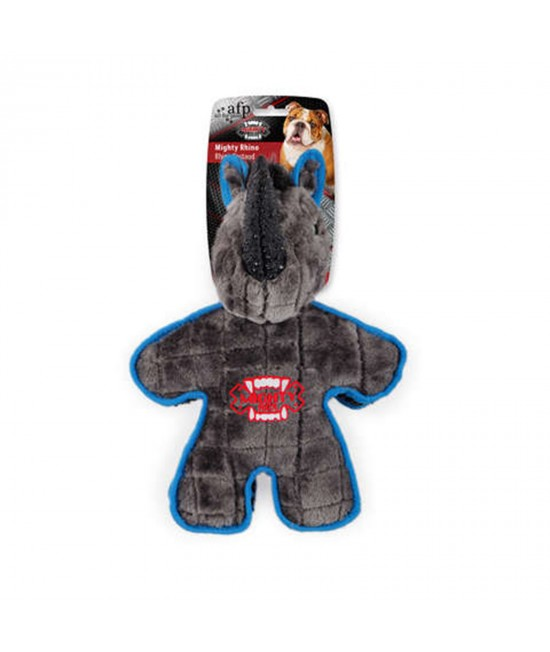 AFP Mighty Rex Rhino Soft Plush Squeaker Toy For Dogs