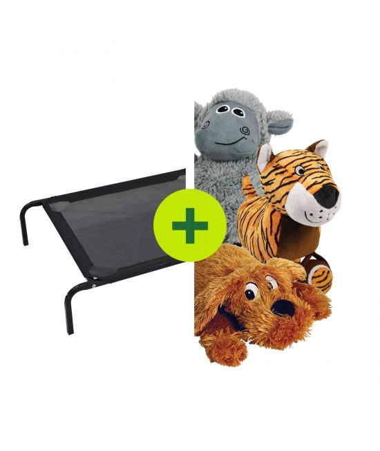 FlashPet Heavy Duty Trampoline Bed Plus Toys For Dogs