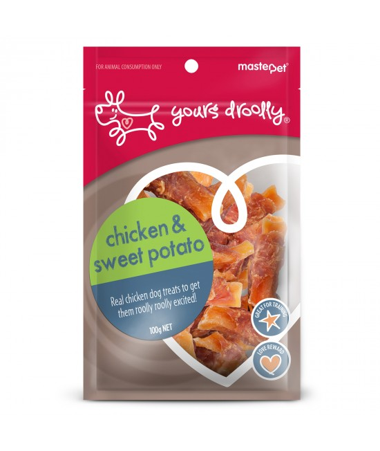 Yours Droolly Chicken and Sweet Potato Treats For Dogs 110gm