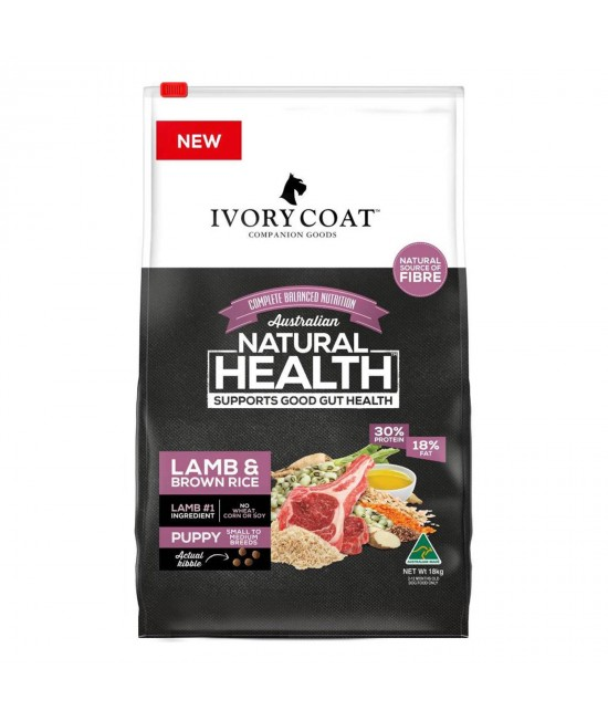 Ivory Coat Lamb And Brown Rice Puppy Dry Dog Food 18kg