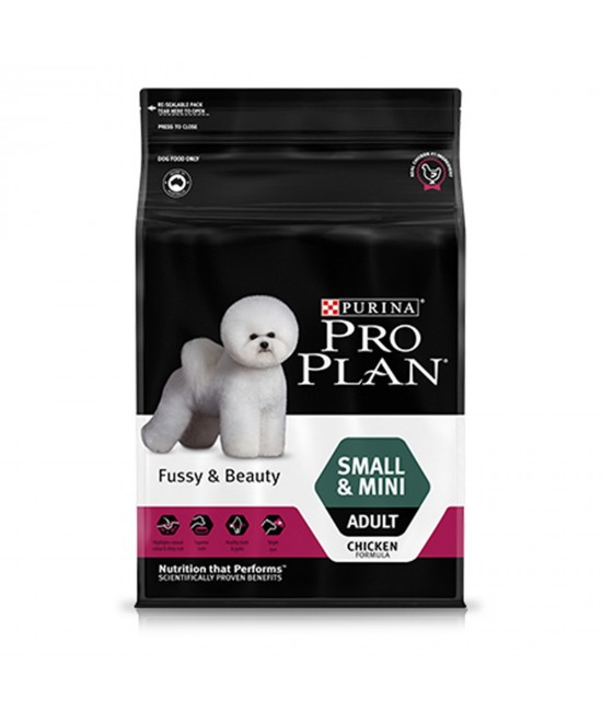 Pro Plan Fussy And Beauty Chicken Small Mini Breed Adult Dry Dog Food 2.5kg
