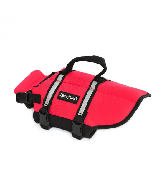 Zippy Paws Water Sport Flotation Life Vest Jacket Red Small (Girth Size 40-50cm) For Dogs