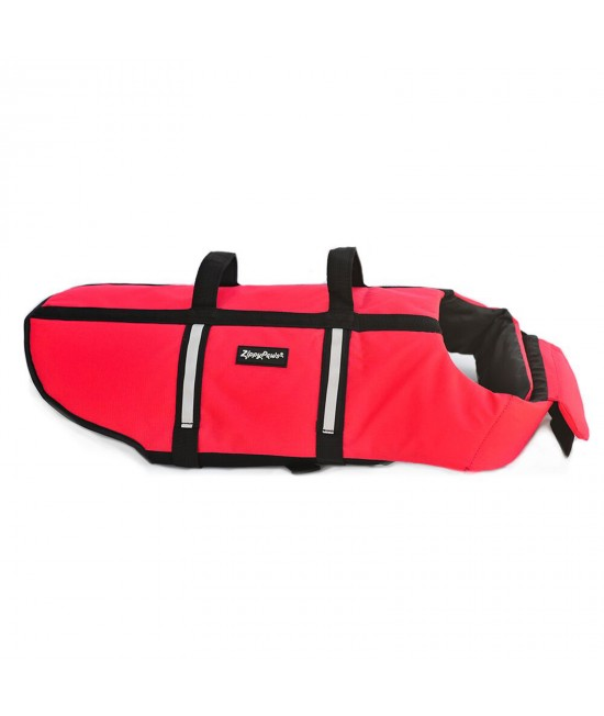 Zippy Paws Water Sport Flotation Life Vest Jacket Red XLarge (Girth Size 82-102cm) For Dogs