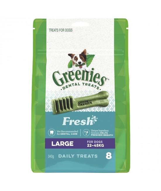 Greenies Dental Treats Freshmint Large For Dogs 22-45kg (8 Treats In Pack) 340gm